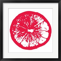 Red Orange Slice Framed Print