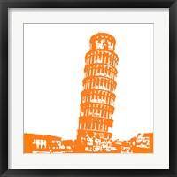 Framed Pisa in Orange