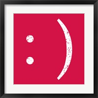 Red Smiley Framed Print