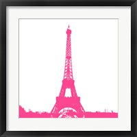 Framed Pink Eiffel Tower