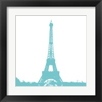 Aqua Eiffel Tower Framed Print