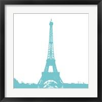 Aqua Eiffel Tower Framed Print