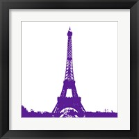 Purple Eiffel Tower Framed Print