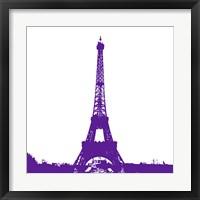 Purple Eiffel Tower Framed Print