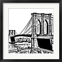 Black Brooklyn Bridge Framed Print