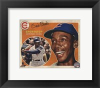 Framed Ernie Banks 2013 Studio Plus