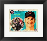 Framed Joe Mauer 2013 Studio Plus