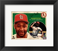 Framed Ozzie Smith 2013 Studio Plus