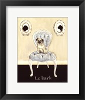 Le Bark Framed Print