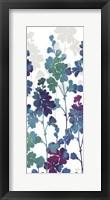 Framed Mallow Blue Panel I