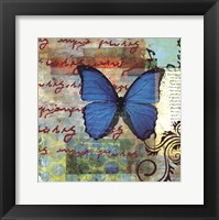 Framed Homespun Butterfly II