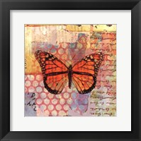 Homespun Butterfly IV Framed Print