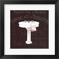 Chalkboard Bath I Framed Print