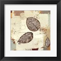 Framed Silver Leaves IV