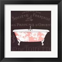 Chalkboard Bath II Framed Print