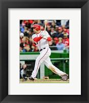 Framed Ryan Zimmerman 2013 batting