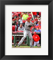 Framed Josh Hamilton Awaiting Baseball Pitch