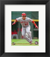 Framed Mike Trout 2013 Action