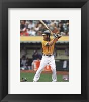 Framed Josh Reddick batting 2013
