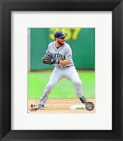 Framed Dustin Ackley Baseball Pitching Action