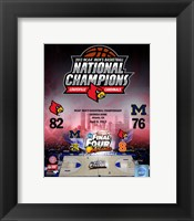Framed University of Louisville Cardinals 2013 NCAA Men's College Basketball National Champions Composite