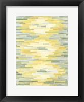 Framed Green & Yellow Reflection II