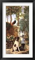 Framed Panneau décoratif aux chien et