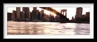Framed Manhattan and the Brooklyn Bridge