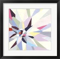 Framed Geometric Dahlia I