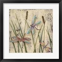 Framed Dancing Dragonflies I