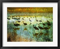 Framed Cranes in Mist I