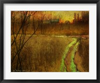 Framed Woodblock Stream II