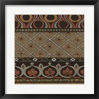 Heirloom Textile III Framed Print