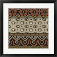 Heirloom Textile IV Framed Print