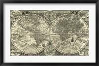 Framed Totius Orbis Cogniti, Leiden, 1605