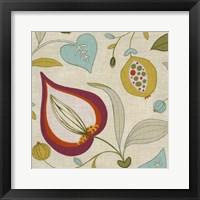 Cabana Floral I Framed Print