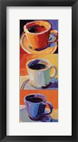 Framed Three Cups o' Joe I
