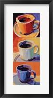 Framed Three Cups o' Joe I
