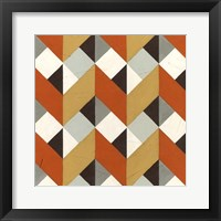 Chevron Illusion I Framed Print