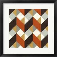 Chevron Illusion IV Framed Print