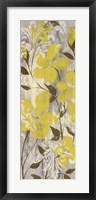 Buttercups on Grey II Framed Print