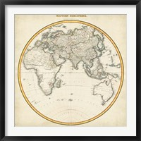 Framed 1812 Eastern Hemisphere