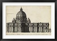 Framed St. Peter's, Rome