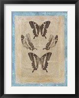 Bookplate Butterflies I Framed Print