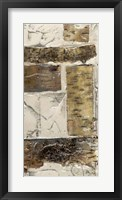 Birch Bark Abstract II Framed Print