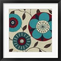 Blue Blossom Fresco II Framed Print