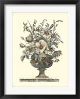 Framed Flowers in an Urn II (Sepia)