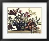 Framed Basket of Flowers II
