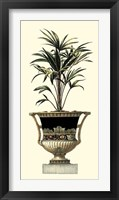Framed Elegant Urn with Foliage I
