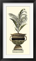 Framed Elegant Urn with Foliage II